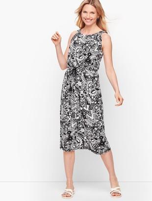 Talbots Sleeveless Midi Dress - Paisley