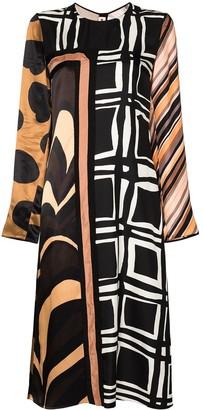 Marni Multi-Pattern Midi Dress