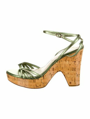Christian Dior Leather Sandals Green