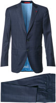 Isaia checked suit - men - Cupro/Wool - 46