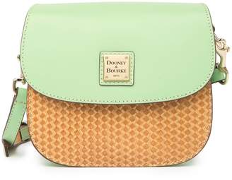 Dooney & Bourke Beacon Woven Leather Saddle Crossbody