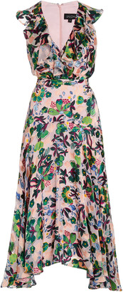 Saloni Rita Printed Chiffon Midi Dress