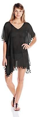 Seafolly Women's Amnesia Kaftan Cover Black, One Size
