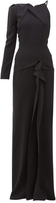 Roland Mouret Delamere One-sleeve Cady Maxi Dress - Black