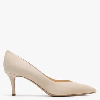 Bango Beige Suede Court Shoes