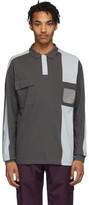 Gr10k GR10K Grey Badge Holder 3M Long Sleeve Polo