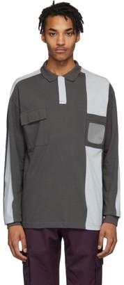 GR10K Grey Badge Holder 3M Long Sleeve Polo