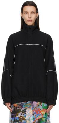 Balenciaga Black Double-Brushed Fleece Sweater