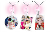 Merkury Innovations LED Photo Clip String Lights - Pink