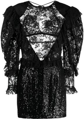 Magda Butrym contrast embellished dress