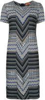 Missoni zig zag knitted dress