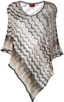 Missoni zigzag knitted poncho - women - Polyester/Viscose - One Size