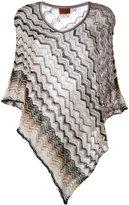 Missoni zigzag knitted poncho