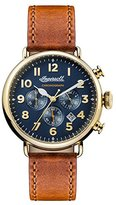 Ingersoll Men's The Trenton Quartz Watch with Blue Dial and Tan Leather Strap I03501
