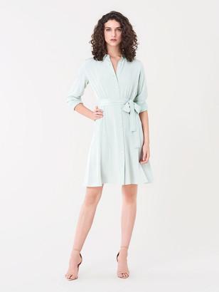 Diane von Furstenberg Dory Silk Crepe de Chine Shirt Dress