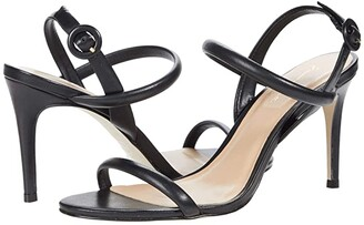 Massimo Matteo Evening Leather Sandal (Black) Women's Shoes