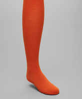 Me Moi Burnt Orange Pima Tights - Toddler & Girls