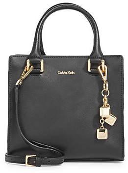 Calvin Klein Logan Leather Top Handle Bag