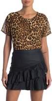 OOBERSWANK Leopard Glitter Short Sleeve Shirt