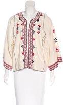 Ulla Johnson Silk Embroidered Jacket