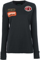 Mr & Mrs Italy embellished patch longsleeved T-shirt
