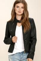 Tcec Peace of Mind Black Vegan Leather Moto Jacket