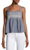 Current/Elliott The Smocked Tank, Indigo