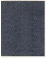 Williams-Sonoma Williams Sonoma Geo Moon Hand Knotted Rug, Navy