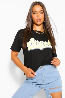 boohoo Angel Slogan T-Shirt