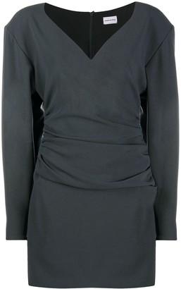 Magda Butrym Statement Shoulder Wool Shift Dress