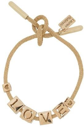 LAUREN RUBINSKI 14kt yellow gold Love charm bracelet