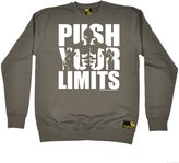 Sex Weights and Protein Shakes Premium SWPS Premium - Push Your Limits (XXL - ) SWEATSHIRT