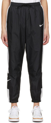Nike Black and White Sportswear Repel Track Pants