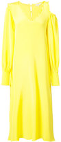 Tibi Edwardian open shoulder dress - women - Silk - 4