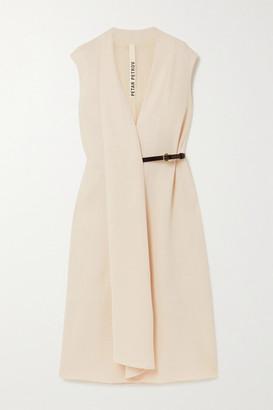 Petar Petrov Alen Belted Wool-crepe Midi Dress - Ivory