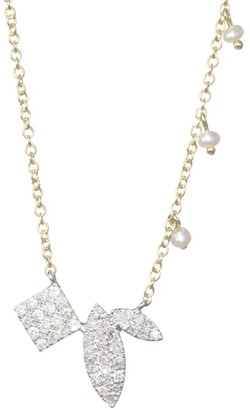 Meira T Teardrop Diamond Station Necklace