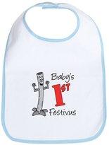 CafePress - Babys First Festivus - Cute Cloth Baby Bib, Toddler Bib