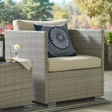 BEIGE Heiner Patio Chair with Sunbrella Cushion Highland Dunes Cushion Color