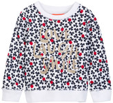 Joe Fresh Allover Print Crew Sweater (Toddler & Little Girls)
