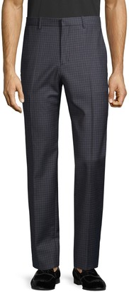 Theory Checkered Wool-Blend Pants
