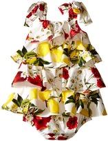 Dolce & Gabbana Ruffle Fiori Dress (Infant)