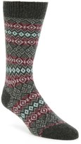 Pantherella Men's Fenton Fair Isle Cashmere Blend Socks