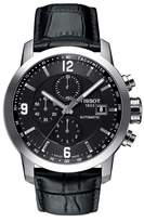 Tissot Men's Prc200 Chronograph Leather Strap Watch, 43Mm