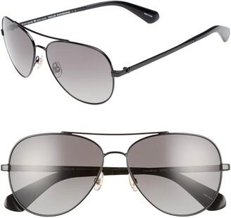 Kate Spade Avaline 2/S 58mm Polarized Aviator Sunglasses