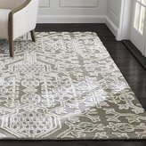 Crate & Barrel Florian Grey Wool-Blend Rug