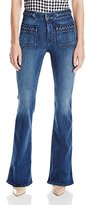 7 For All Mankind Women's Braided Fashion Flare Jean In