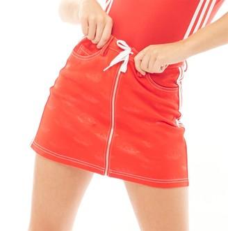 adidas Womens X Fiorucci Zip Skirt Red