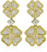 Torrini Quadrifoglio Diamond Four-Leaf Clover 18K Gold Earrings