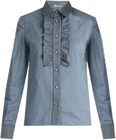 Miu Miu Pinstriped cotton-drill shirt