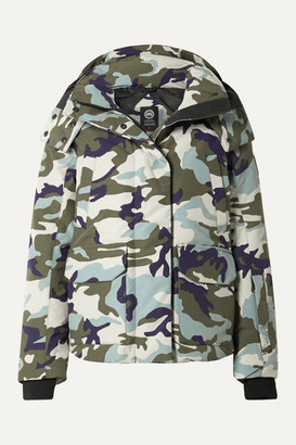 Canada Goose Blakely Camouflage-print Hooded Shell Down Jacket - Storm blue